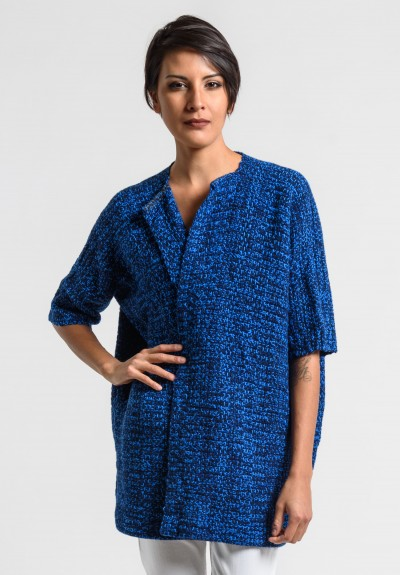 Daniela Gregis Cashmere Knit Jacket in Electric Blue