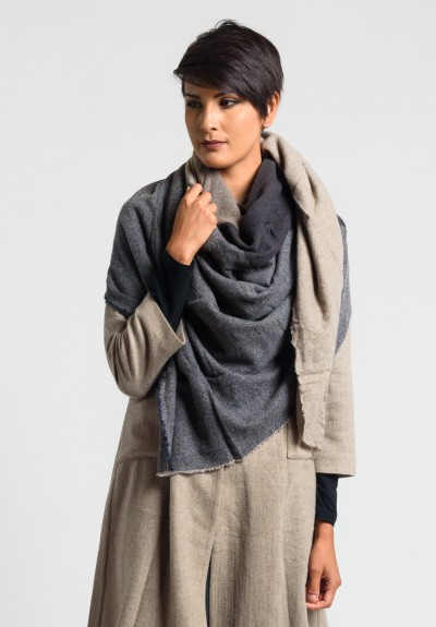 Daniela Gregis Washed Cashmere Shawl in Brown