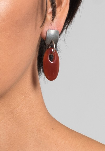 Holly Masterson Oval Carnelian Earrings