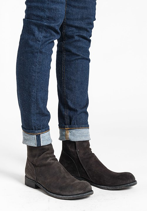 Officine Creative Hubble Suede Boots in Light Lavagna