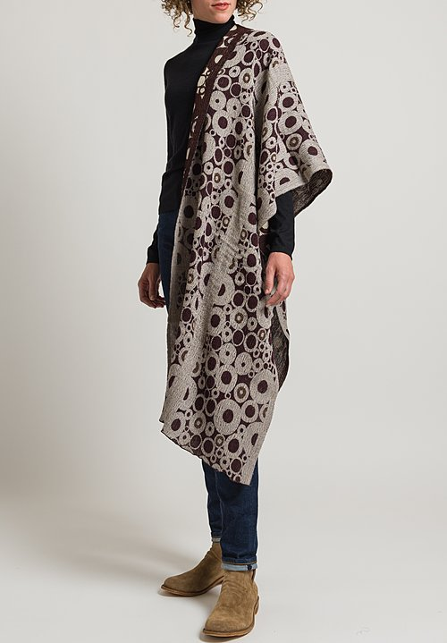 Nuno Tires Shawl in Red