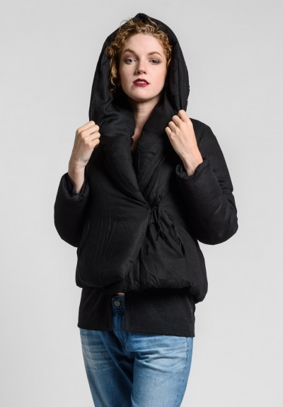 Album di Famiglia Lina Corto Puffy Coat in Black