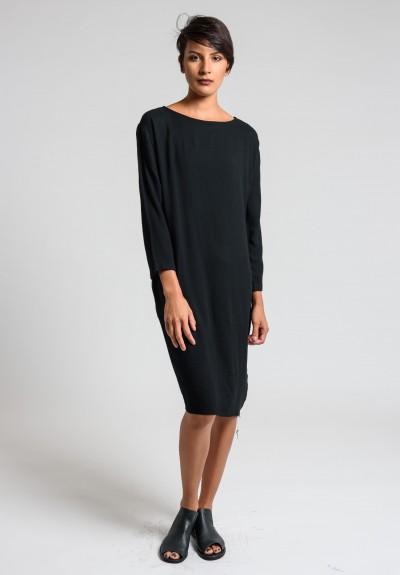 Black Crane Slim Dress In