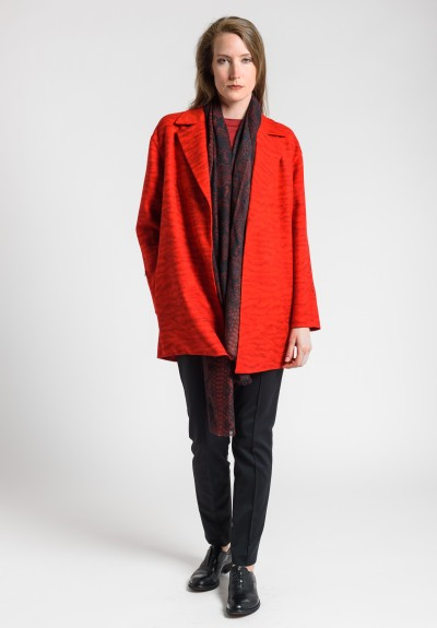 Akris Garance Wool Coat in Red