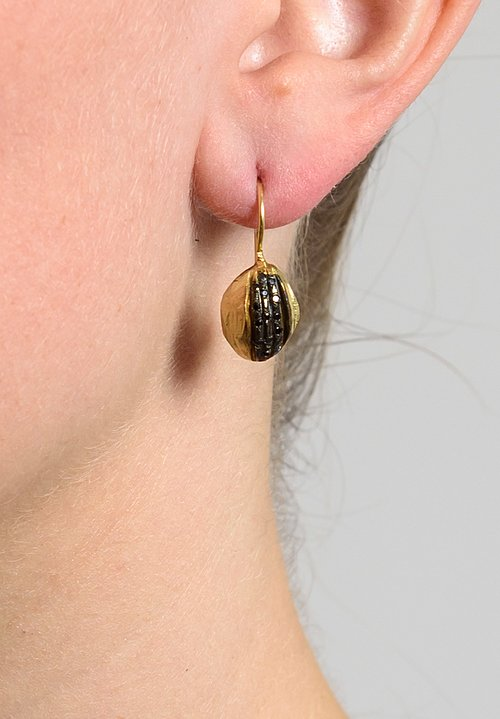 Tovi Farber 18k Gold & Black Diamond Earrings