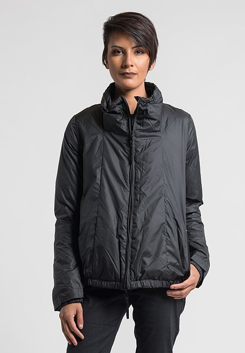 Rundholz Black Label Stand Collar Puffy Jacket in Black
