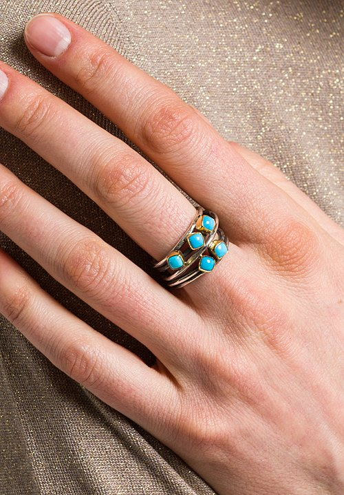 Greig Porter Sleeping Beauty, 18K, Sterling Silver Wrap Ring