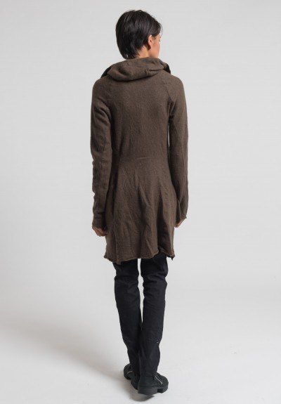 Rundholz Cashmere Long Knit Jacket in Linoil