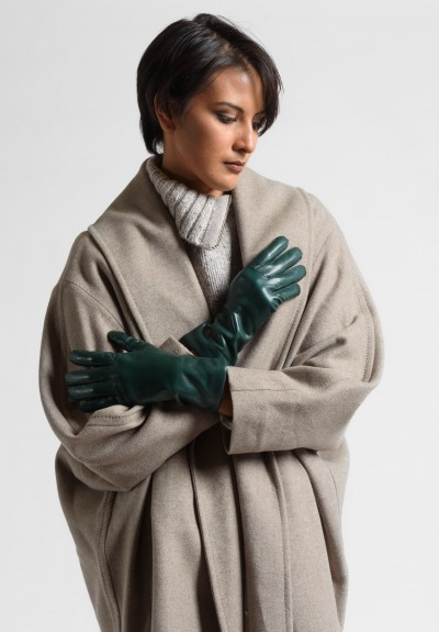 Hestra Cashmere Lined Hairsheep Gloves in Dark Forest