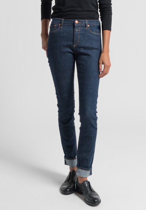 Closed Lizzy Mid Rise Skinny Jeans in Dark Blue