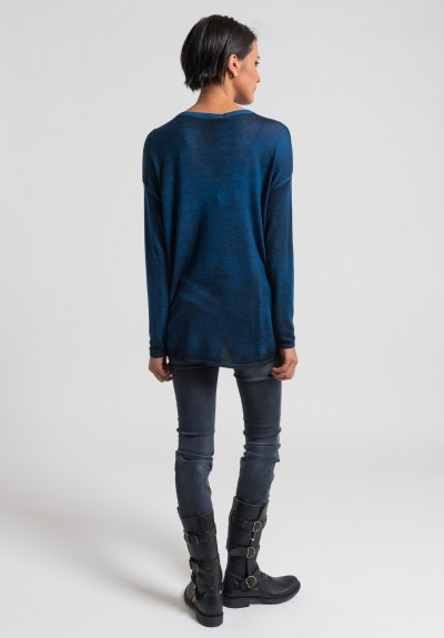 Avant Toi Cashmere/Silk Lightweight Sweater in Cuba
