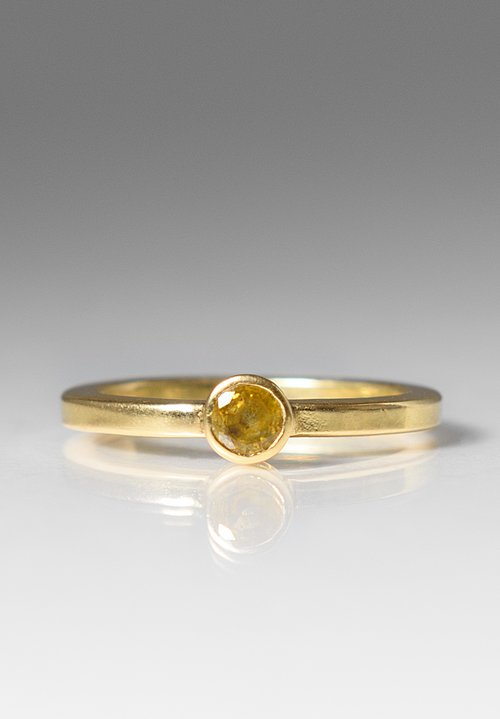 Greig Porter Yellow Tourmaline Stacking Ring