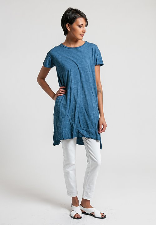 Gilda Midani Cotton Japa Tunic Dress in Deep Blue