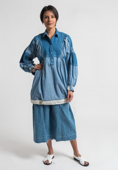 Sacai Dungaree Tunic in Blue