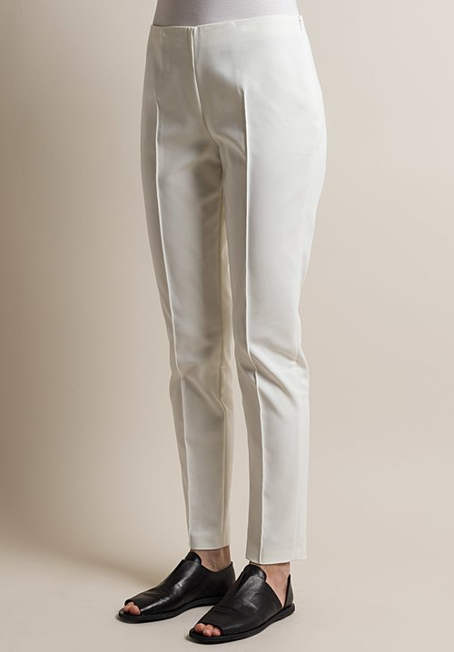 Akris Melissa Techno Stretch Pant in Off White