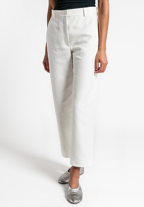 Akris Carlos Cropped Pants in Moonstone