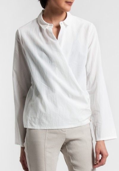 Annette Görtz Key Wrap Shirt in Off White