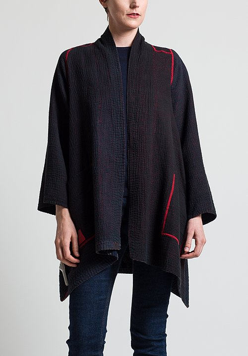 Mieko Mintz 4-Layer Twilight Print Jacket in Red/Black