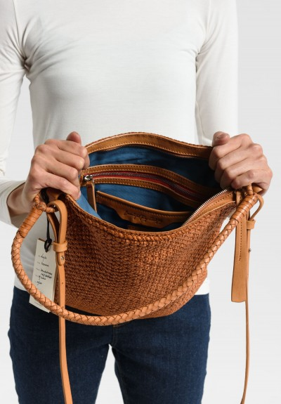 Massimo Palomba Layla Vienna Shoulder Bag in Cuoio