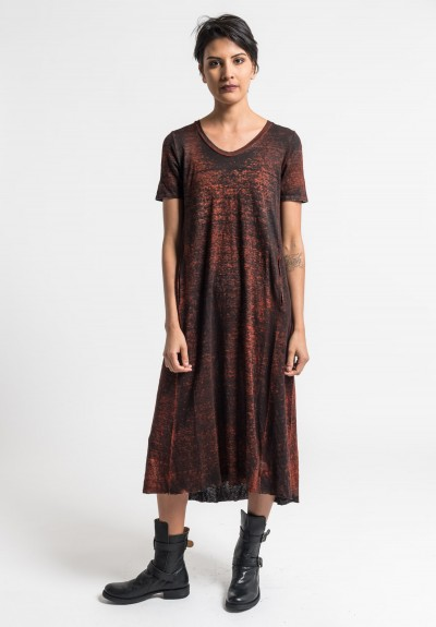 Avant Toi Lightweight Linen Long Dress in Canyon