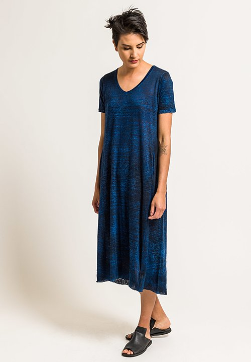 Avant Toi Lightweight Linen Long Dress in Cuba