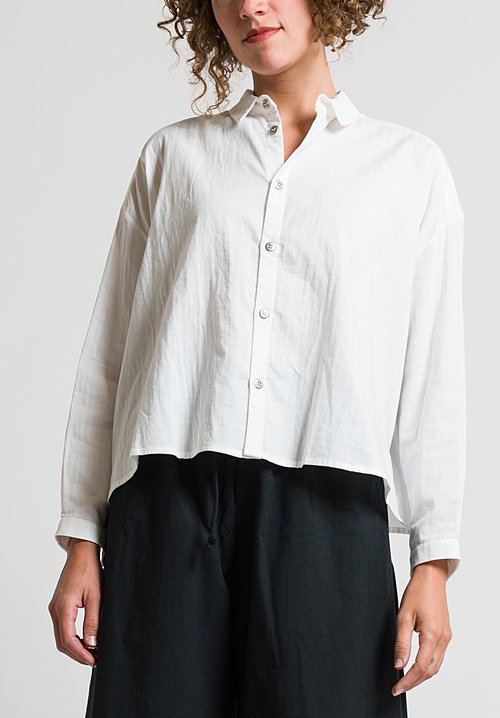 Toogood Short Draughtsman Shirt in Milk