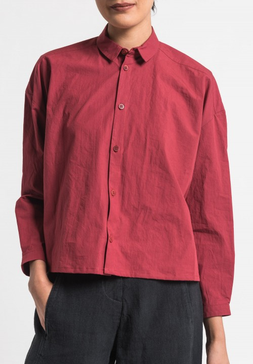 Toogood Cotton Percale Short Draughtsman Shirt in Barn