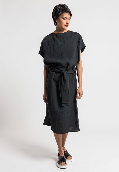 Toogood Ramie/Linen Cheesemonger Dress in Soot