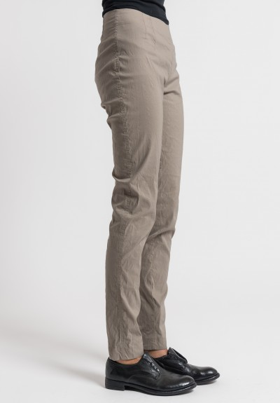 Rundholz Linen/Cotton Stretch Skinny Pants in Desert