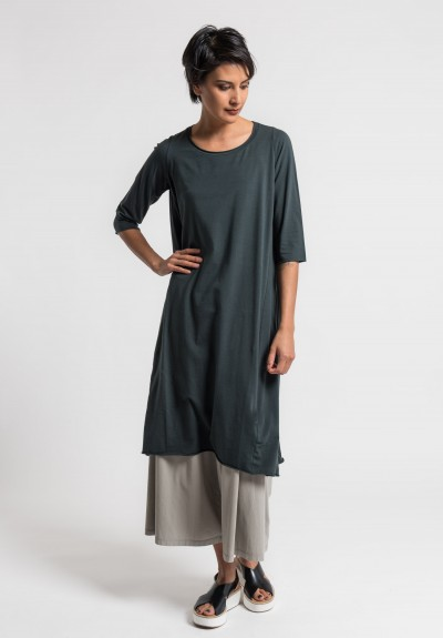 Labo.Art Abito Coro Jersey Dress in Carbon 14
