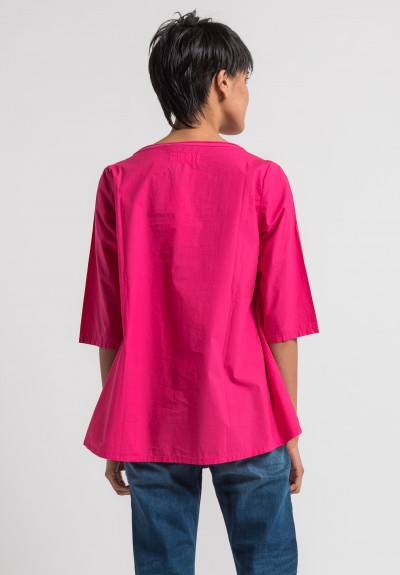 Labo.Art Maglia Gallina Clara Cotton Top in Azalea