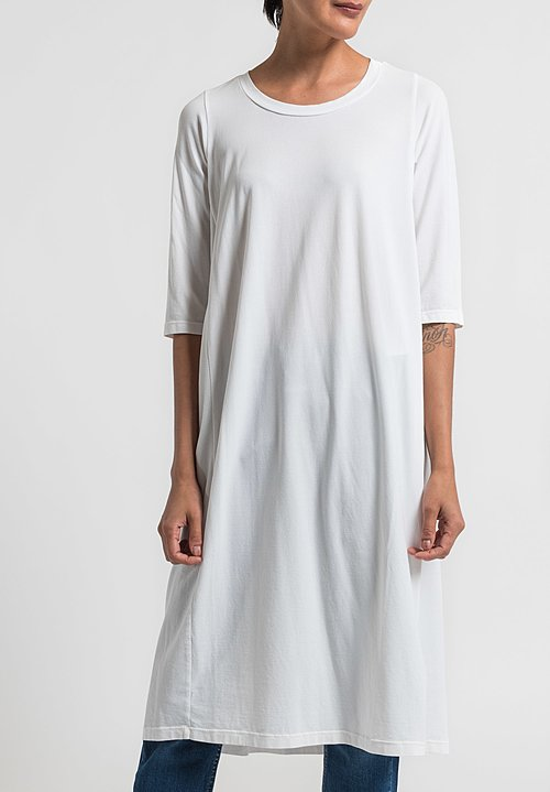 Labo.Art Abito Coro Opera Cotton Dress in White