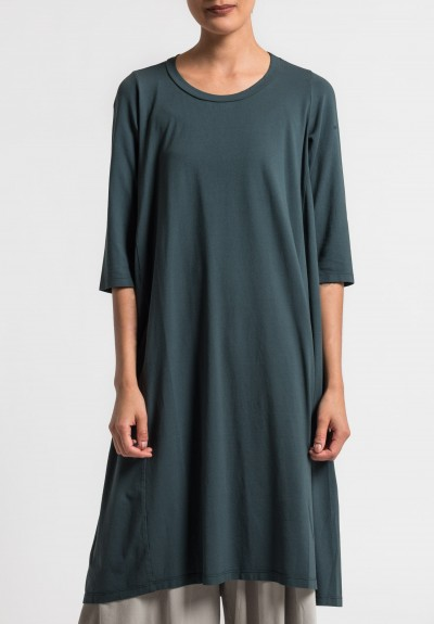 Labo.Art Abito Coro Opera Cotton Dress in Carbon 14