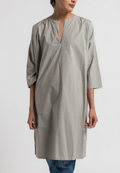 Labo.Art Abito Calle Clara Cotton Tunic in Greige