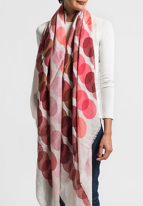 Faliero Sarti Silk/Wool XFactor Scarf in Pink/Red