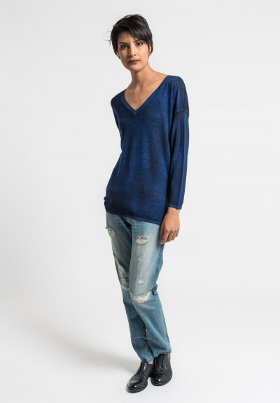 Avant Toi Lightweight V-Neck Sweater in China