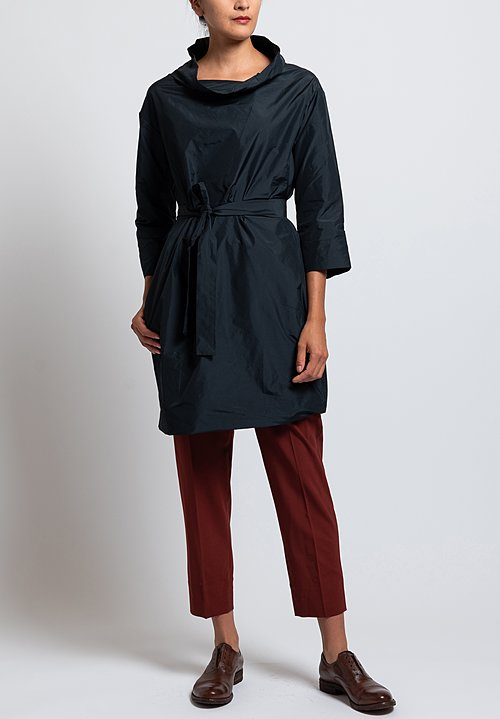 Peter O Mahler Belted Crash Tunic in Black