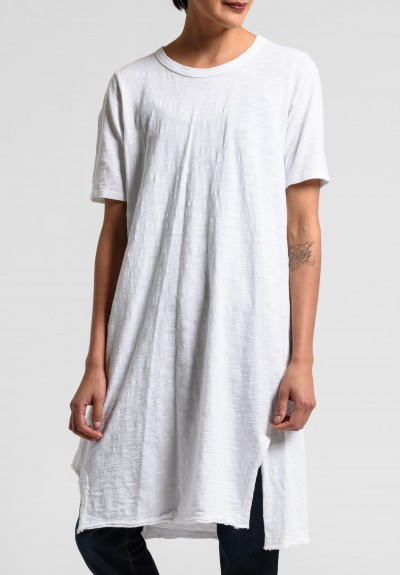 Wilt Elbow Sleeve Cut Out Hem Tunic Dress in White