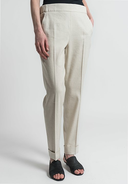 Akris Paillette Chris Trousers in Beis