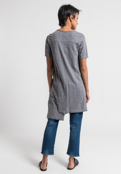 Wilt Shifted Pocket Tee Tunic in Volcano