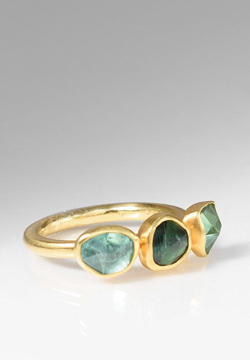 Margoni 18K Gold & Green Tourmaline Ring