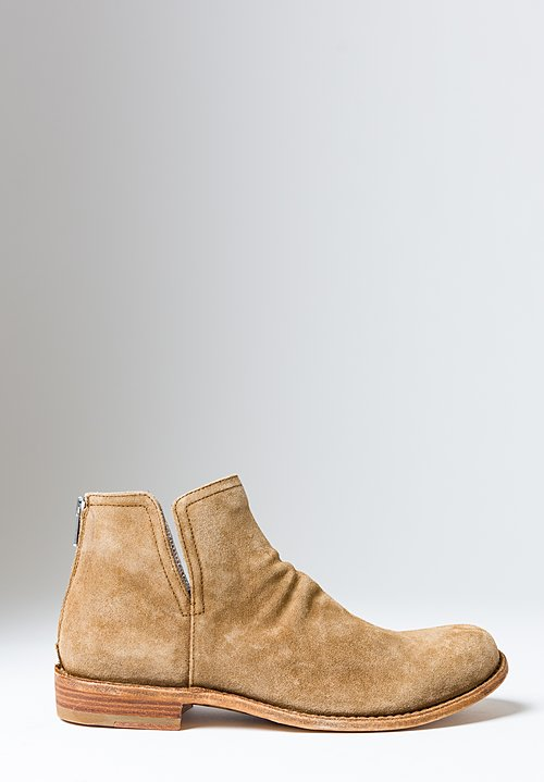 Officine Creative Suede Legrand Ankle Boot in Softy Sigaro