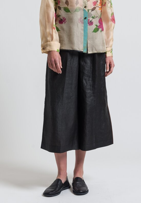 Sophie Hong Silk Culottes in Black