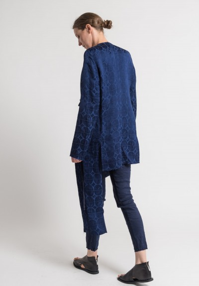 Uma Wang Jacquard Kunto Jacket in Blue