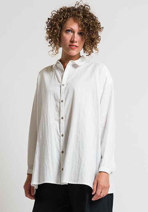Toogood Long Draughtsman Shirt in Milk