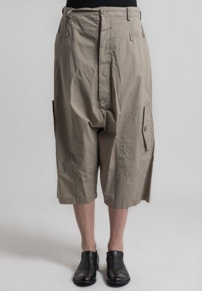 Rundholz Cotton Drop Crotch Pants in Desert
