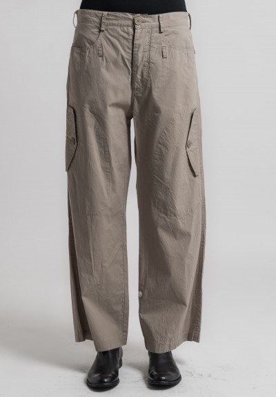 Rundholz Cotton Straight Leg Pants in Desert
