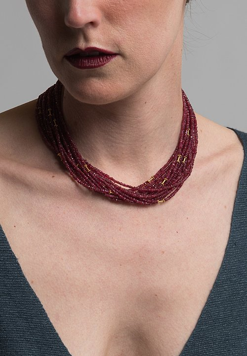 Greig Porter Long 18k & Spinel Necklace