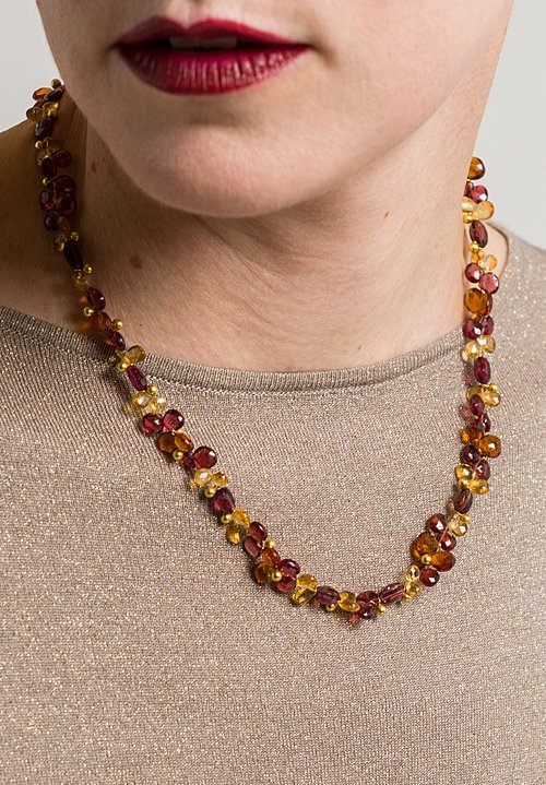 Greig Porter 18K, Garnet, Citrine Necklace