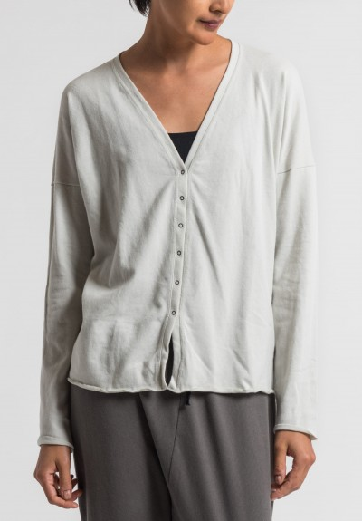 Album Di Famiglia Cotton Slim Cardigan in Rice